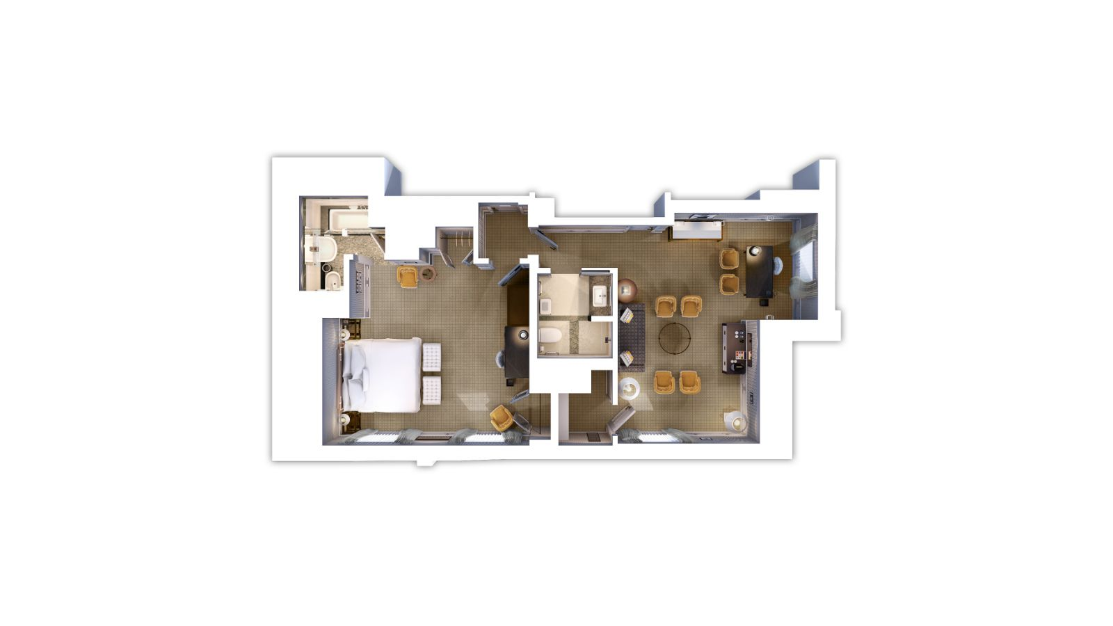 Deluxe Suite Floor Plan