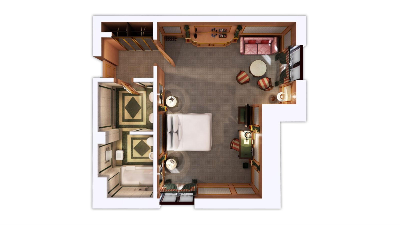 Suites floor plan, The Westin Palace Milan
