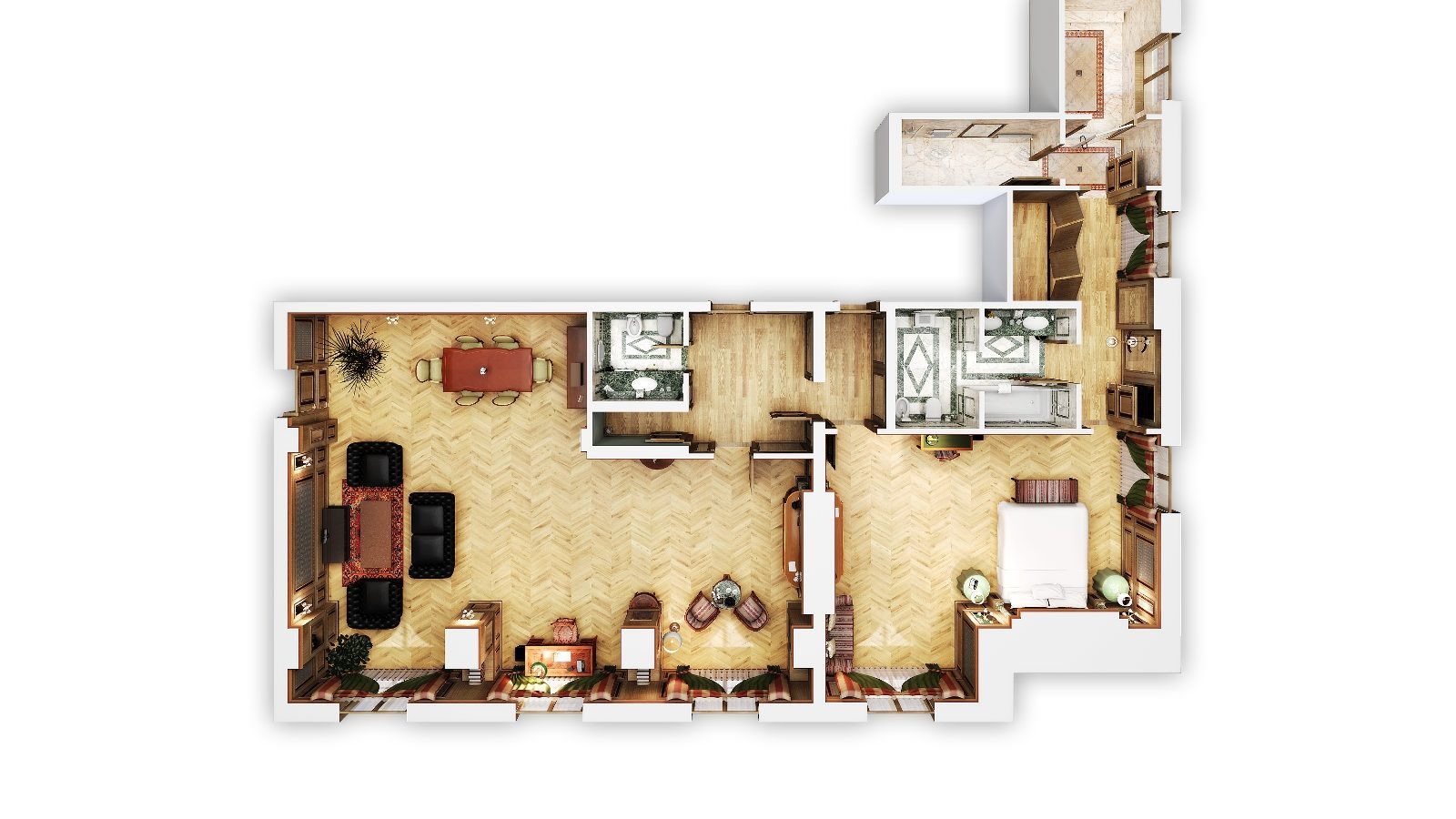 Diplomatic Suite floor plan