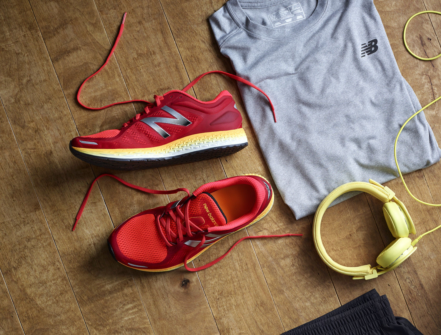 Red shoes and t-shirt
